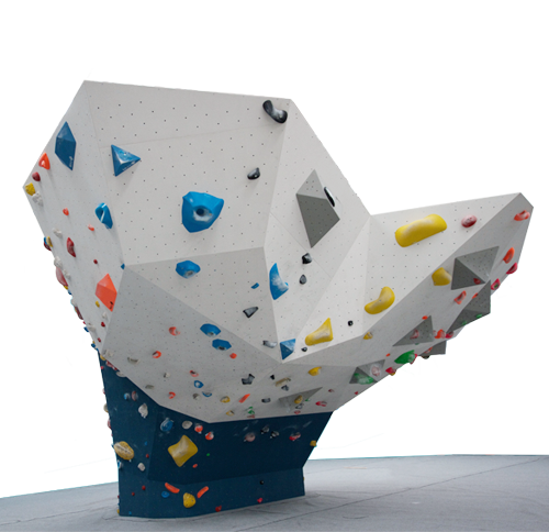 Whale Tail The front of the whale tail will be Portside's most overhung piece of real estate maxing out at 68° degrees. The sides and back of this freestanding piece of climbing goodness will include vertical and slab climbing to make this magnificent island truly versatile.