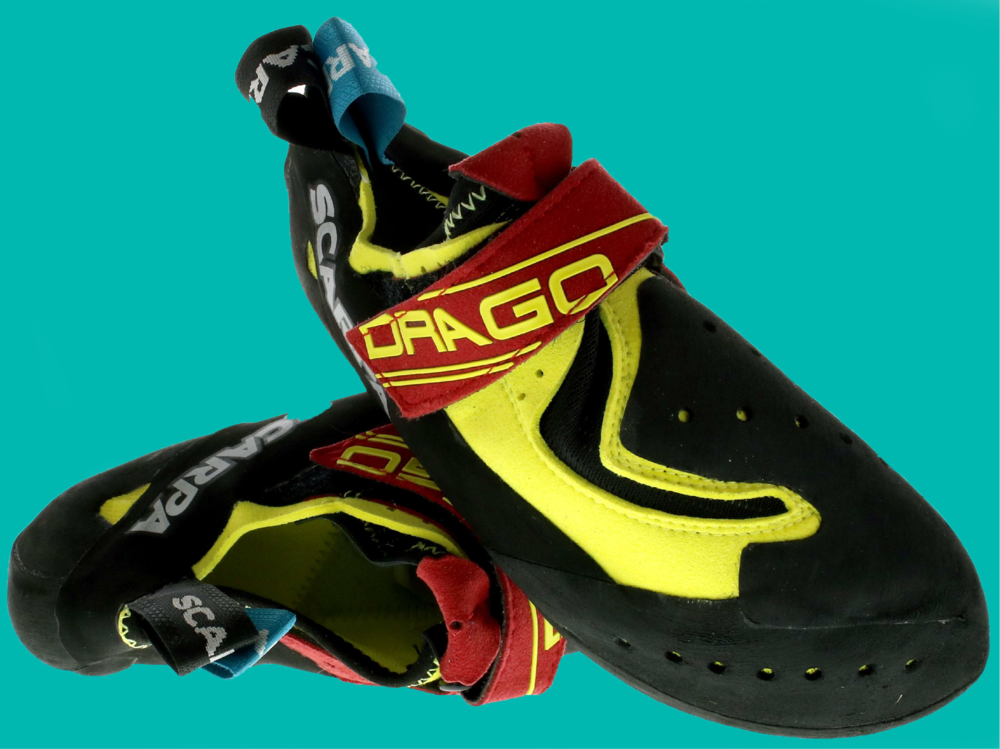 Drago - SENSITIVITY AND FRICTION REMASTERED The Drago features a super light and comfortable microfi ber upper. The patented foot wrap system provides unprecedented rubber coverage over the forefoot, giving the ultimate in friction and protection. It's sensitivity affords great grabbing, whilst the power connection band, reinforces support when it's needed. Utilising the iconic Instinct VS heel design with a single lock down strap makes this shoe the ultimate weapon for boulderers, sport & competition climbers. Designed by Heinz Mariacher and hand crafted in Italy.