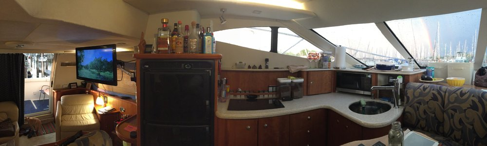 Panorama of Coraline's Galley and Saloon
