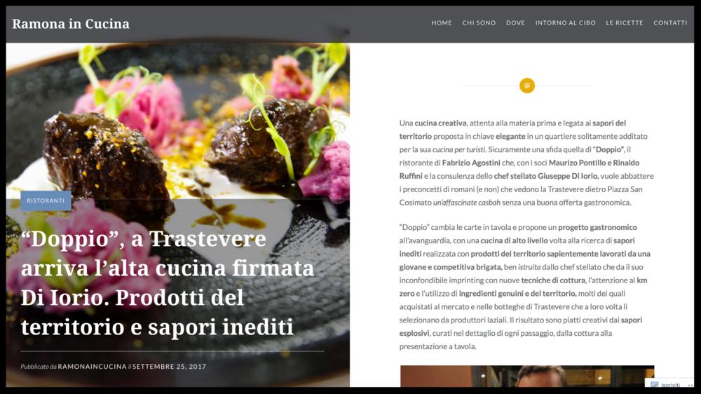RAMONA IN CUCINA - Blog