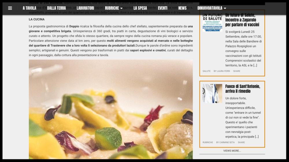 DI NUOVO A TAVOLA - Magazine Online