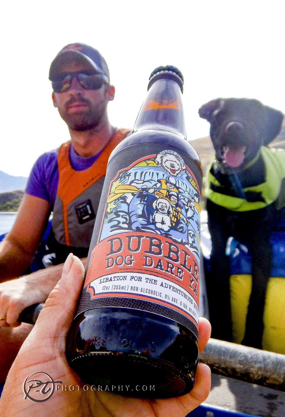 Obie is a pro rafter and fisherdog (with his pal Ross).
