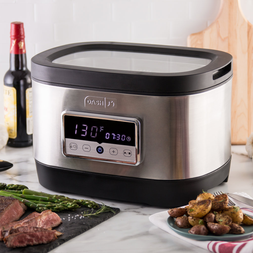 With the Dash Chef Series Digital Sous Vide, gourmet results are foolproof and effortless.