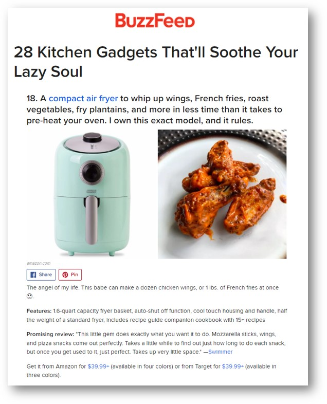 Dash compact air fryer featured on buzzfeed dash forumfinder Images