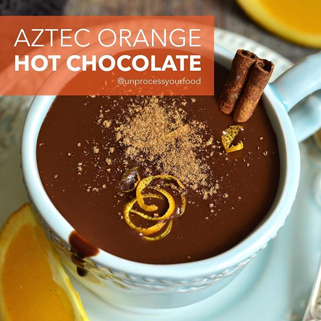 I tried some incredible orange spicy Aztec hot chocolate in Santa Fe and I have been dreaming of it every since. It is full of flavor and the spiciness compliments the orange beautifully. -Need a healthy kitchen tool or appliance? Visit my website: www.bydash.com 😘 Love, Ms. Dash 😘😘😘 #unprocessyourfood #healthyrecipes #wholesome #realfood #healthyfoodshare #glutenfree #healthytreat #vegan #dairyfree #orange #hotchocolate --------------------- Aztec Orange Hot Chocolate ➡️½ cup dark chocolate chips ➡️2 cups almond or coconut milk ➡️1 teaspoon cinnamon ➡️1 teaspoon vanilla ➡️¼ teaspoon sea salt ➡️1 teaspoon chili pepper ➡️2 tablespoons maple syrup ➡️2 teaspoons orange zest --------------------- DIRECTIONS: Place all the ingredients in the Dash blender and blend on high until hot chocolate is hot and completely combined. Serve right from the pitcher. Canned coconut milk makes a thicker and richer hot chocolate and almond milk makes a thinner more classic hot chocolate. --------------------- Chocolate Caliente Naranja de Azteca ➡️½ taza chispas de chocolate oscuro ➡️2 tazas leche de almendra o coco ➡️1 cucharadita canela ➡️1 cucharadita vainilla ➡️¼ cucharadita sal marina ➡️1 cucharadita pimiento ➡️2 cucharadas miel de maple ➡️2 cucharaditas piel de naranja --------------------- DIRECCIONES: Ponga todos los ingredientes en la licuadora Dash y licúe en alto hasta que chocolate este caliente y completamente combinado. Sirva de la licuadora. Leche de coco en lata lo hace más grueso y rico que la de almendra que lo hace más delgado y como chocolate caliente clásico.