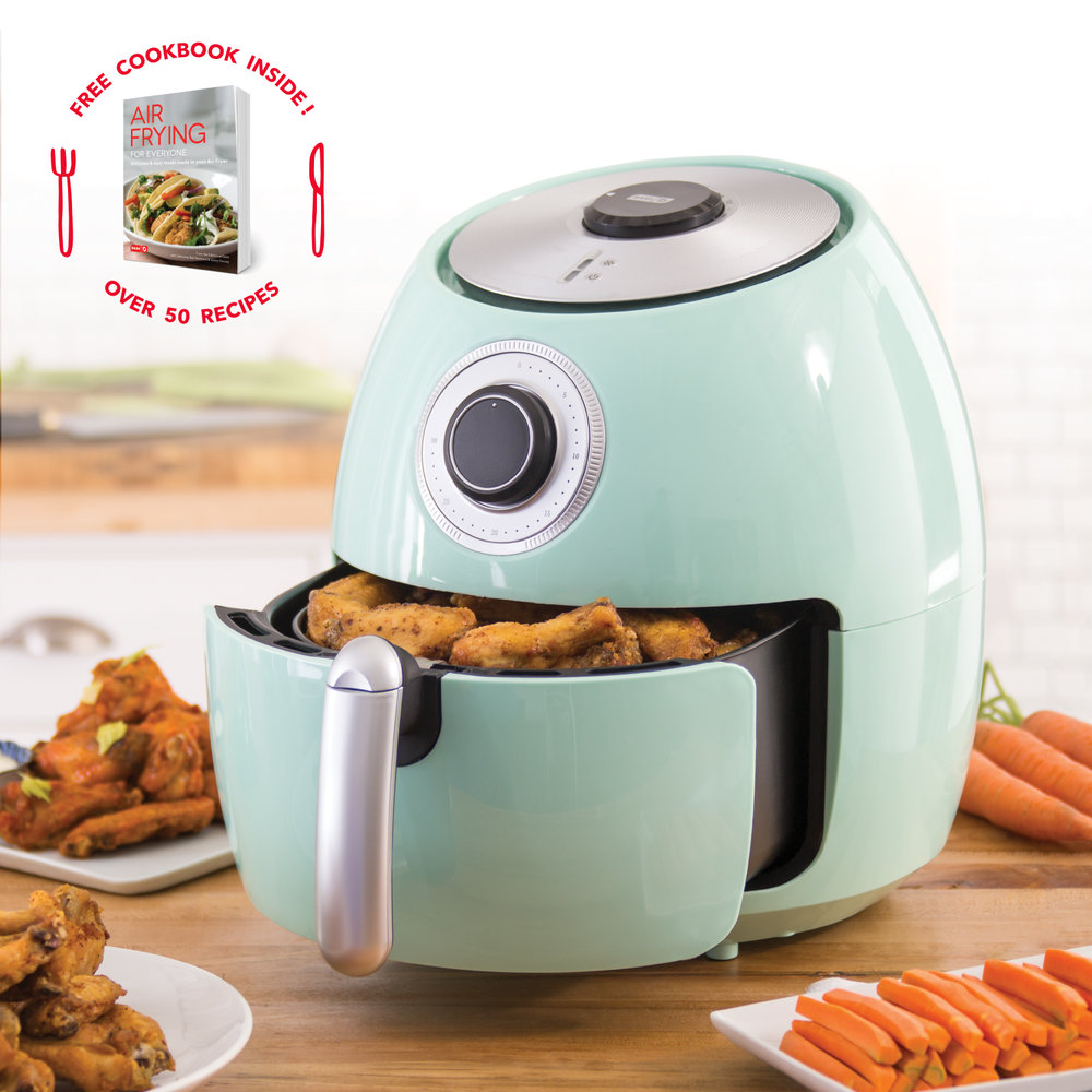 Your friend cooks for a lot of people at once and could use some help. With a 6 quart capacity, the    Dash Family Air Fryer    is perfect for preparing larger portions while making fried foods healthy. Plus, this baby comes with the Dash air frying cookbook, Air Frying For Everyone!