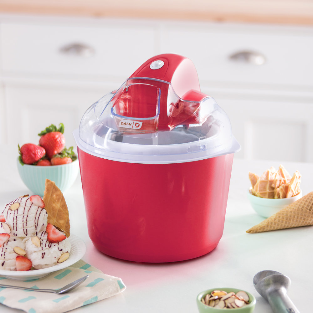 Your friend has a lot of mouths to feed and they love sweets! The    Dash Deluxe Ice Cream Maker    would be a perfect holiday treat!