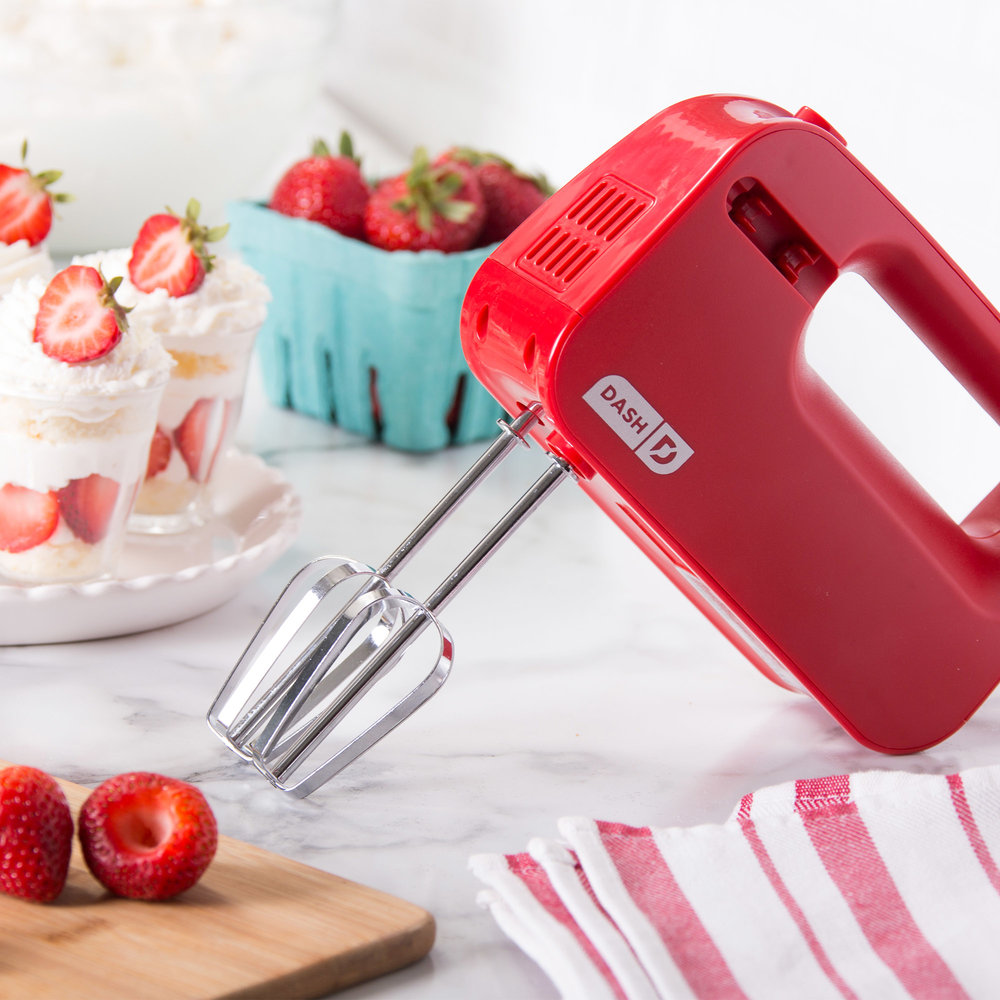 Dash Smartstore Hand Mixer - This kitchen helper can handle the big jobs without taking up space! Christmas cookie mania has officially begun.Get it here.