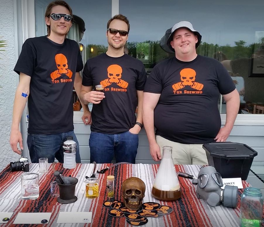 Dayne, Mike, & Jon pouring at 'Brew With a View' in Middletown, CT in Summer of 2016.