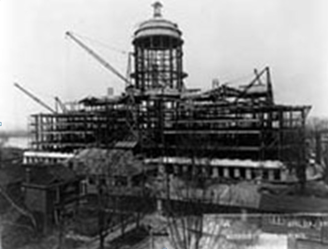 Construction of the Missouri State Capitol April 15, 1915