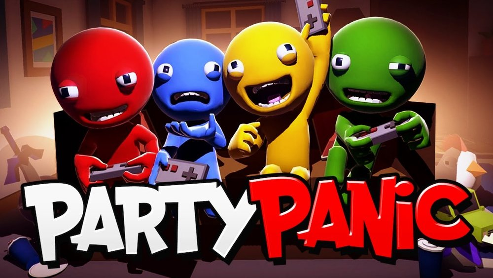 Party Panic - Party Panic is an online and local-multiplayer party game. Compete against your friends in the all new board game, play 30+ rapid fire minigames, race through the brutal Gauntlet, or complete the challenges on Trophy Island. There is even a built in drinking game! You'll laugh, you'll cry, it's stupid.