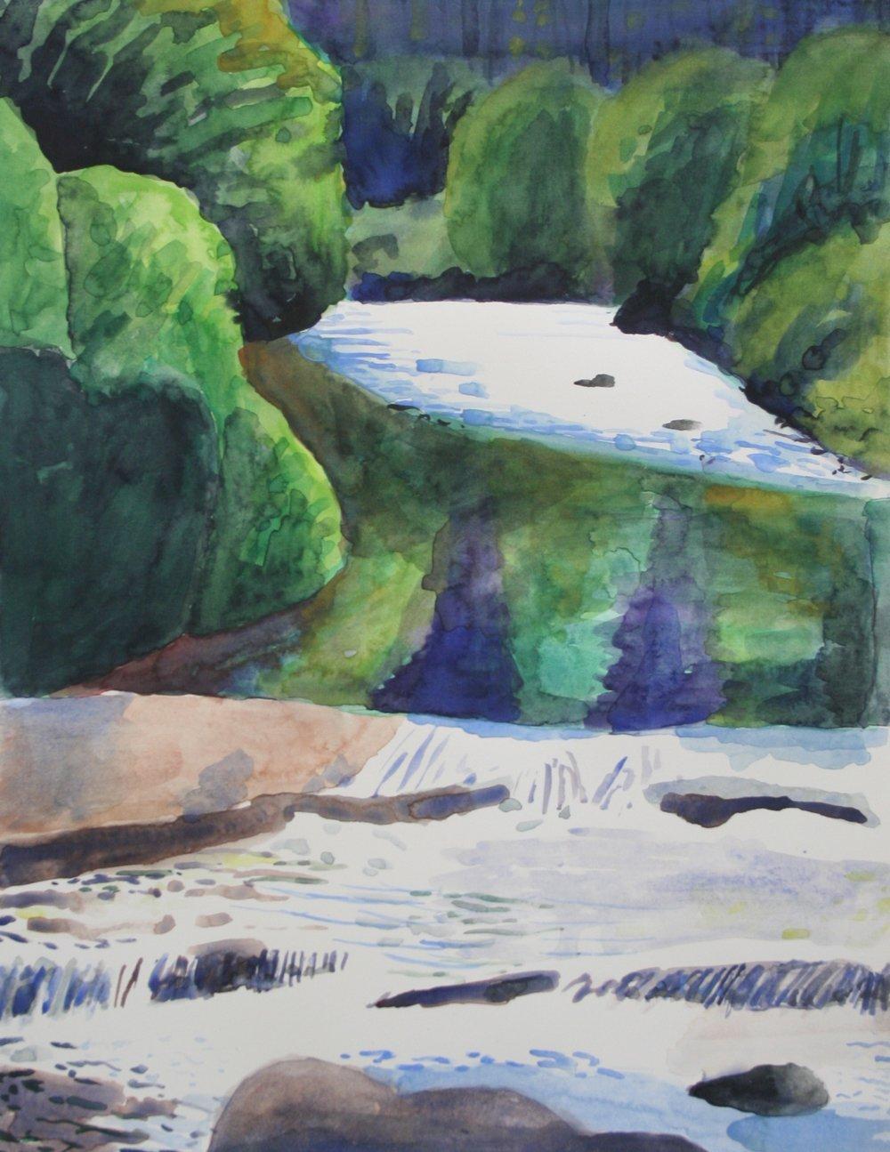 River rush 2, Watercolor, 10.5 x 8 in, 2016