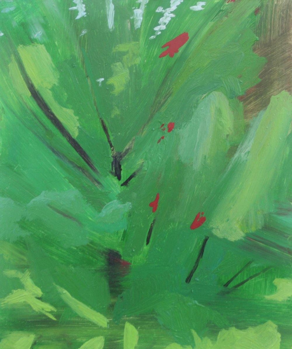 Vermont tree, Oil on panel, 7.5 x 6 in, 2016