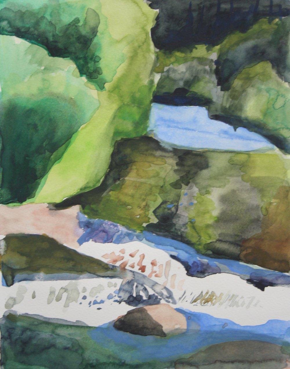 River rush, Watercolor, 10.5 x 8 in, 2016