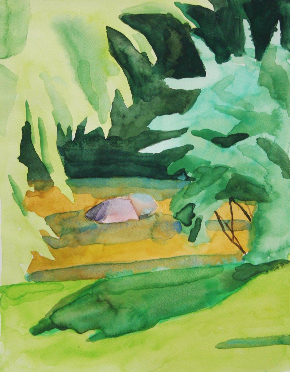 River spot, Watercolor, 10.5 x 8 in, 2016
