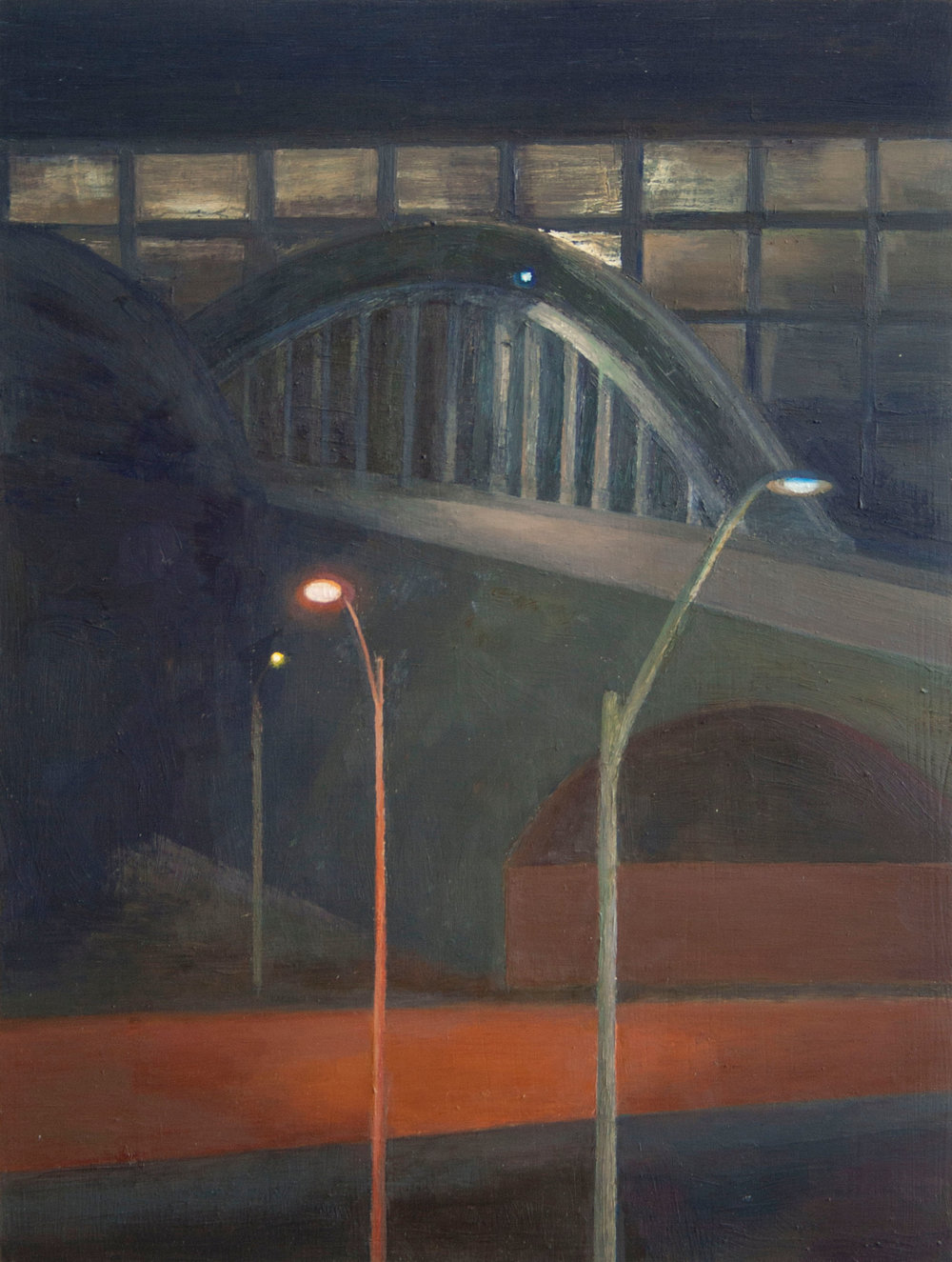 Illuminated Paths, Oil on panel, 19.5 x 14.5 inches, 2015