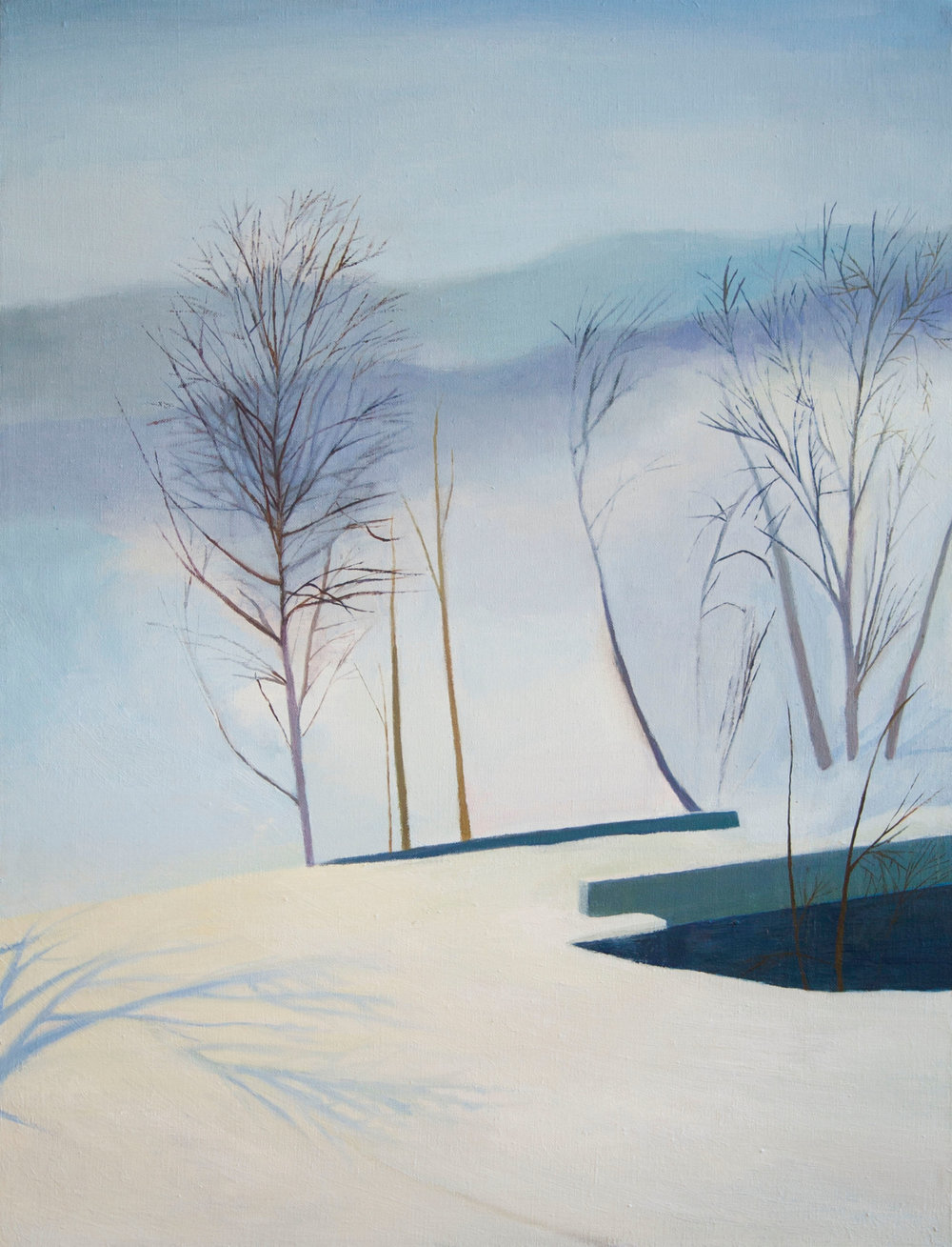 Snow Scene, Oil on linen, 24 x 18 inches, 2015