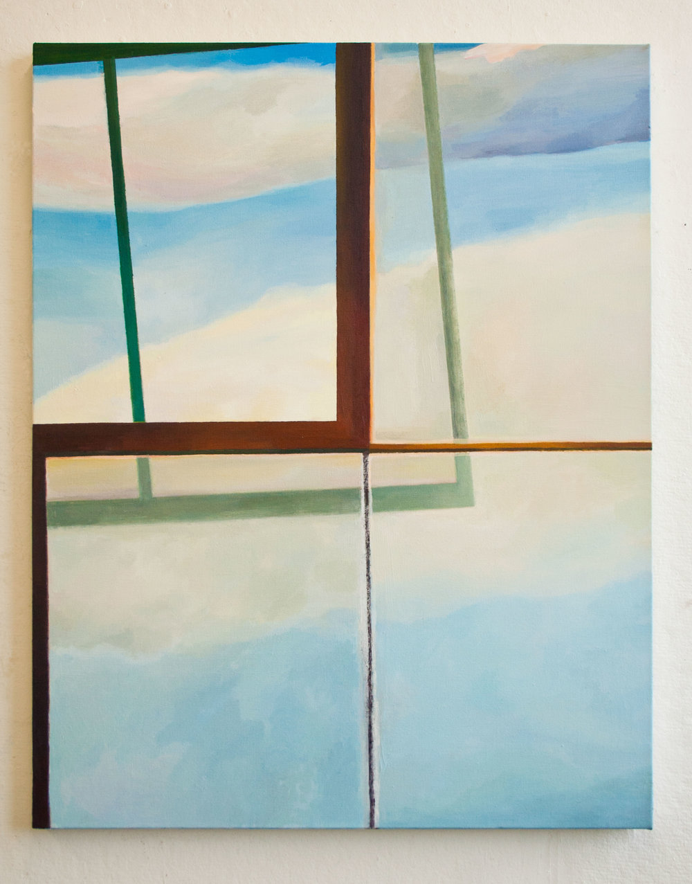 Opened lll, Oil on canvas, 43 x 34 inches, 2015