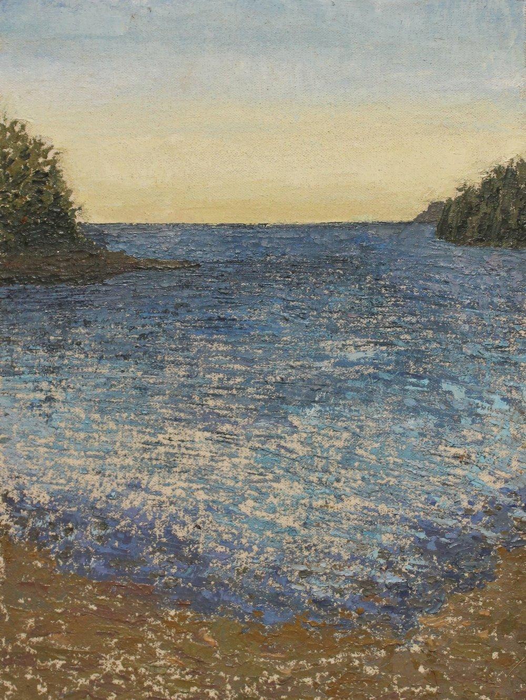 Maine horizon, Oil on canvas, 12.5 x 9.5 in, 2014