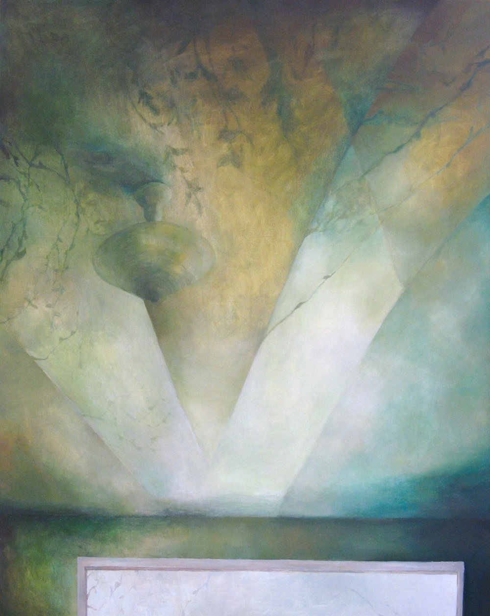 Ceiling with Shadows, Oil on Canvas, 60 x 48 inches, 2011
