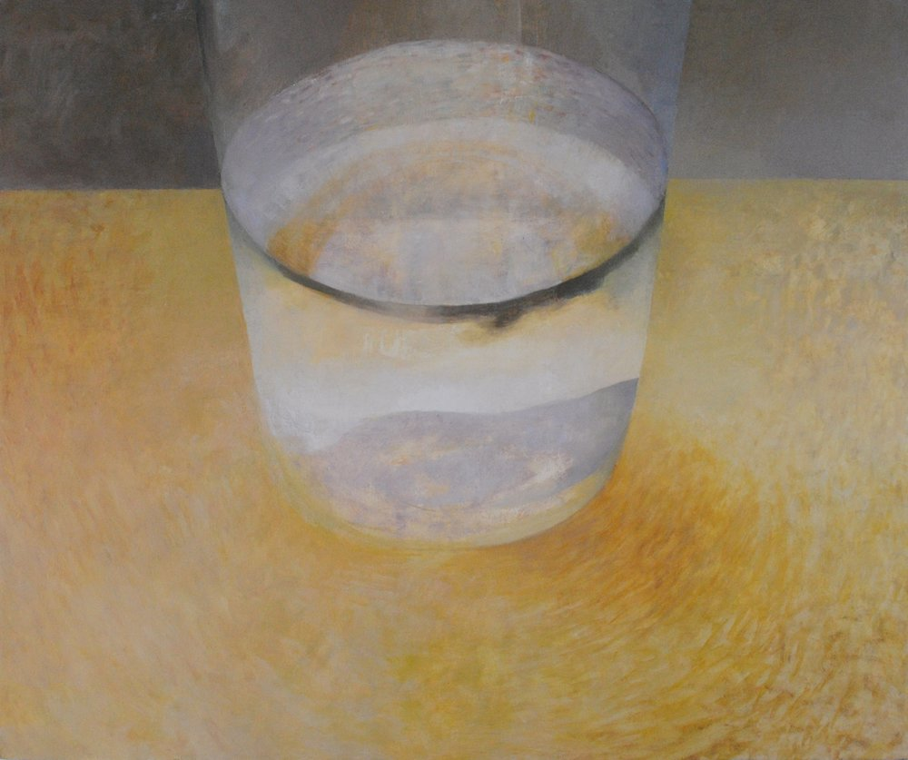 Water Glass, Oil on Canvas, 30 x 36 inches, 2012