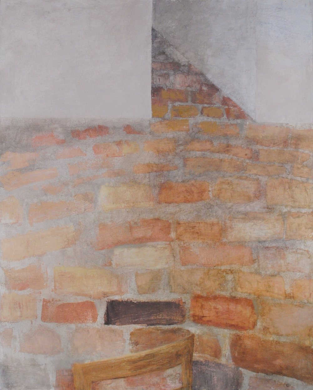 Floor/Wall, Oil on Canvas, 47 x 36 inches, 2012