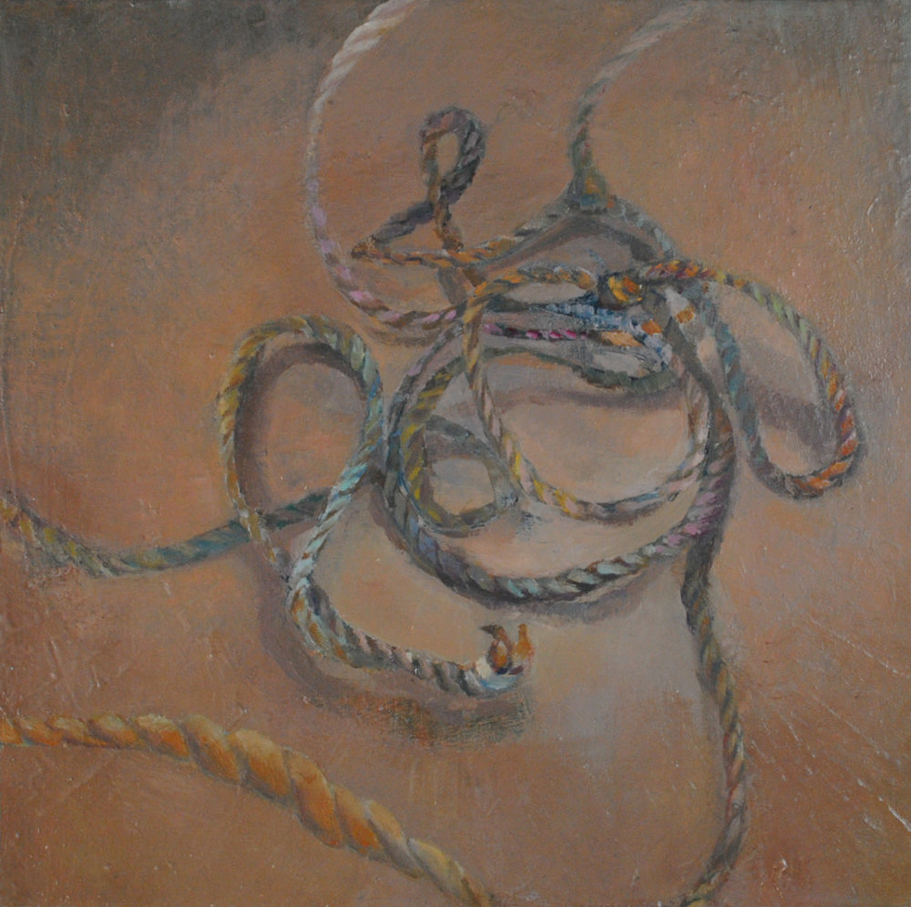 Knot, Oil on canvas, 12 x 12 in, 2011