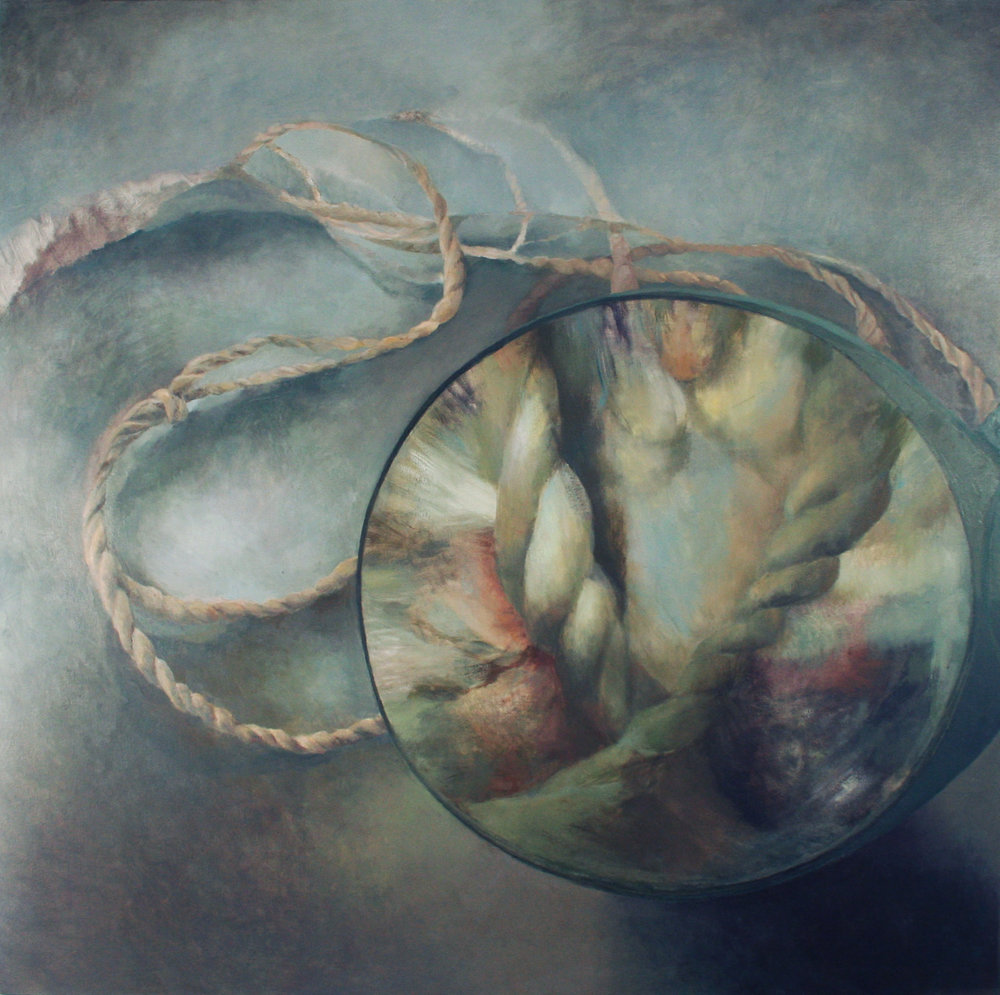 Magnified, Oil on Canvas, 48 x 48 inches, 2011