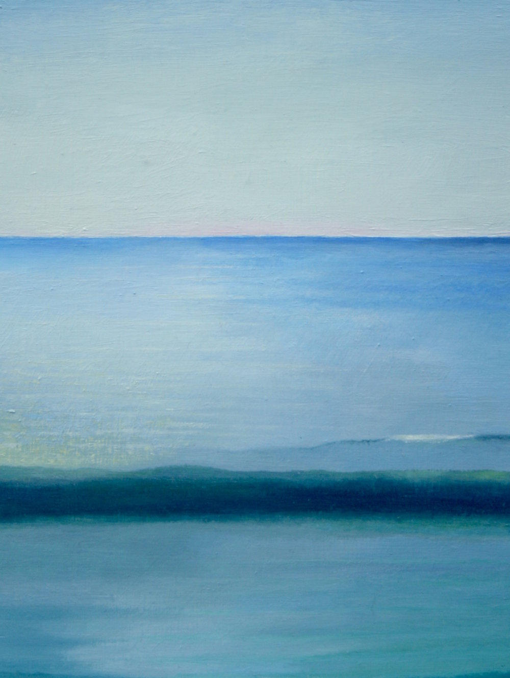 Horizon, 12 x 9 in, Oil on wood, 2015