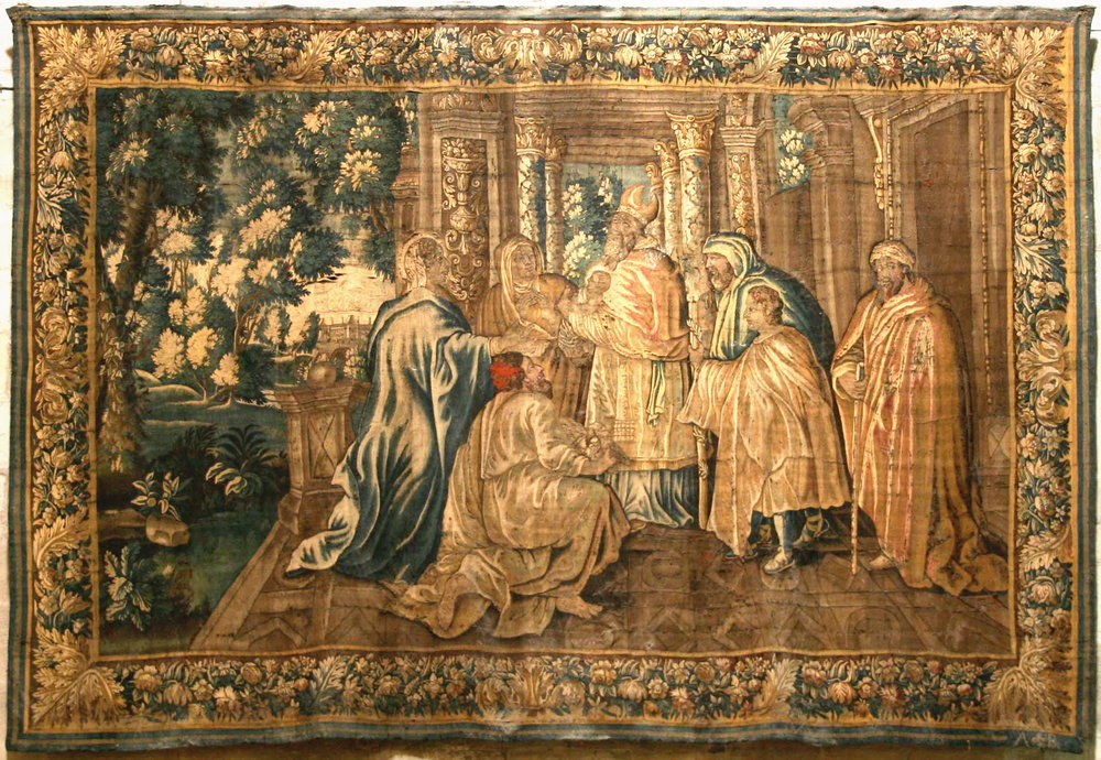 Early Christian Aubusson Tapestry
