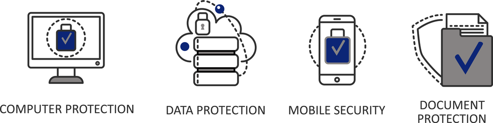Cyber Security graphic computer protection data prevention mobile document all mountain technologies it tech technology