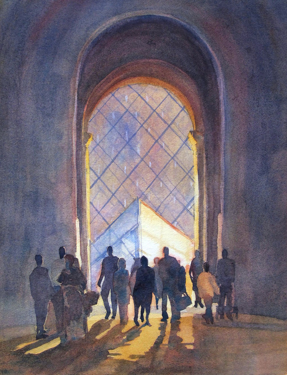 Entering the Louvre, Paris