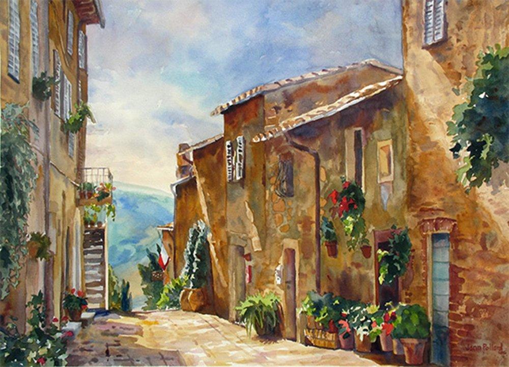 Pienza Shadows, Tuscany