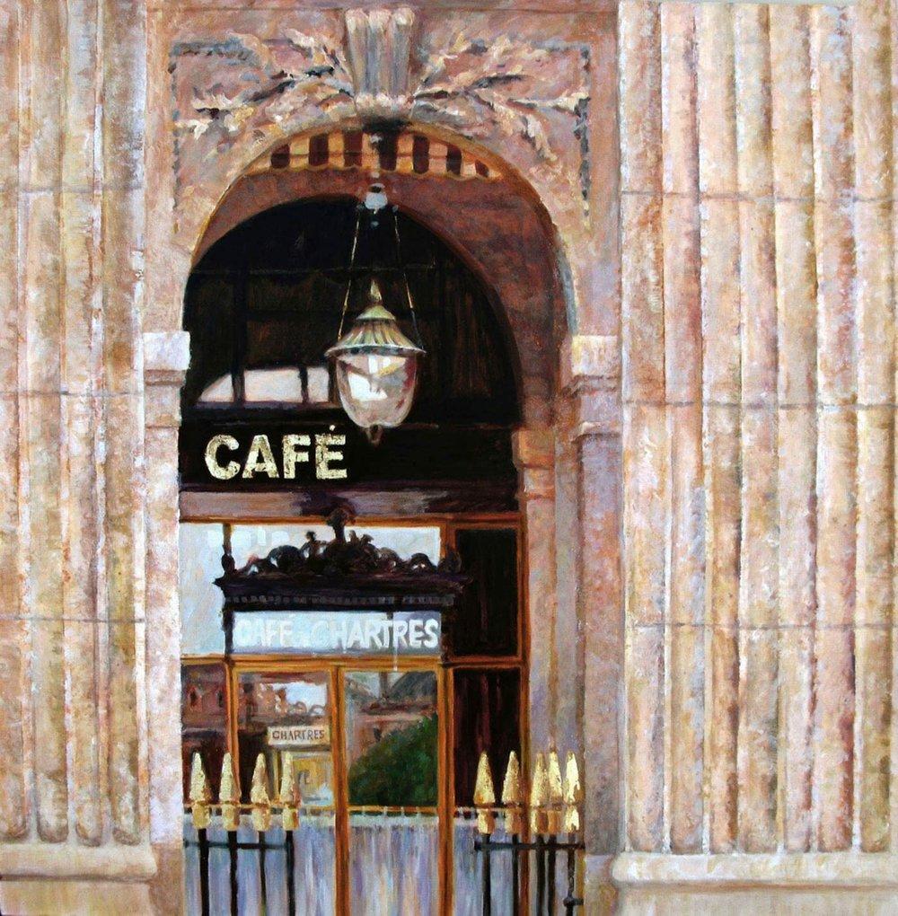 Paris Cafe Reflections
