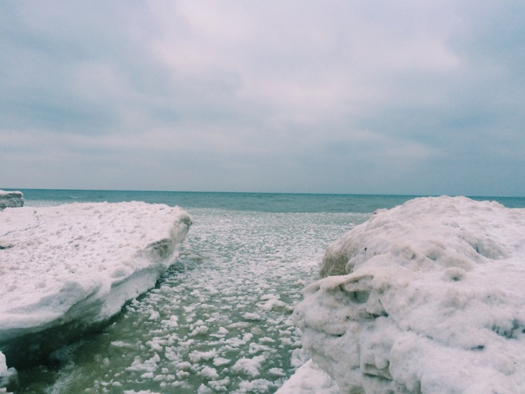 The icy coast of Lake Michigan. My second time here, and just as breath-taking as the first. Something about seeing a frozen ocean is mesmerizing for a Florida kid.