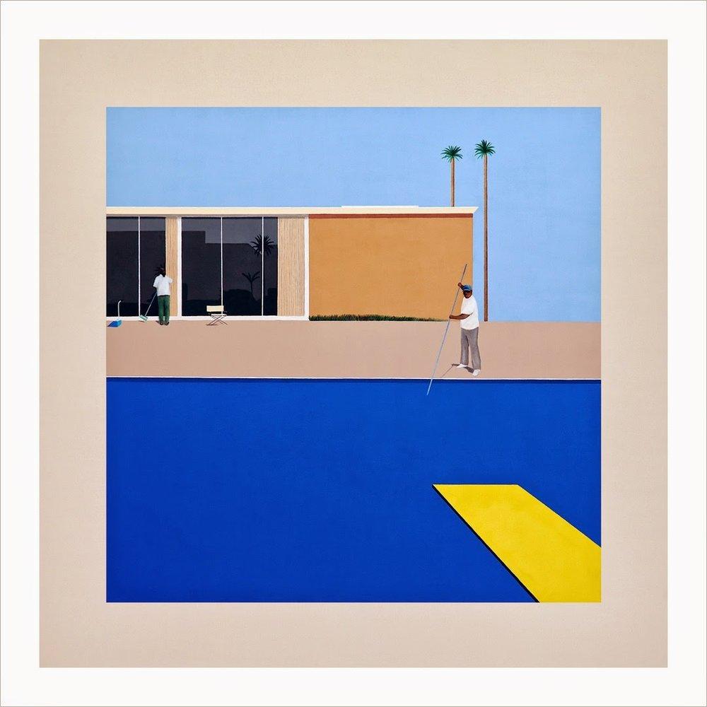 """No Splash (After David Hockney's A Bigger Splash, 1967)"", Ramiro Gomez, 2013"