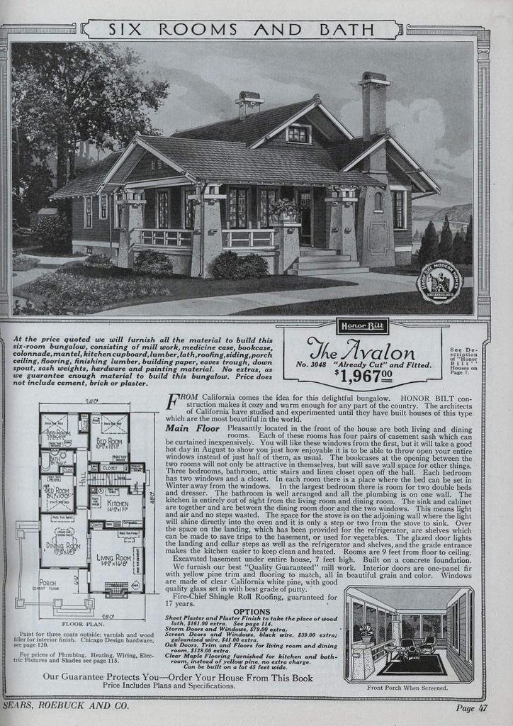 The Avalon , Sears, Roebuck, and Co. Modern Homes Catalog. 1921-6