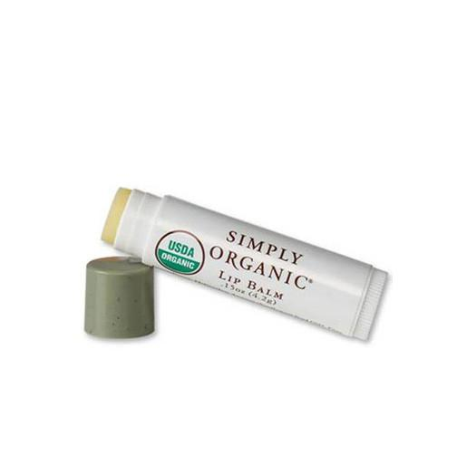 Simply Organic Lip Balm  $4 | 100% Organic USDA certified. Protects against UV rays. Made with beeswax, sunflower oil, coconut oil, and aloe vera.