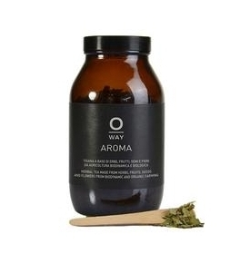 Oway Aroma Tea  $34 | Loose leaf, caffeine free herbal tea. Made with 100% biodynamic and organic botanicals grown on their family farms in Bologna, Italy.