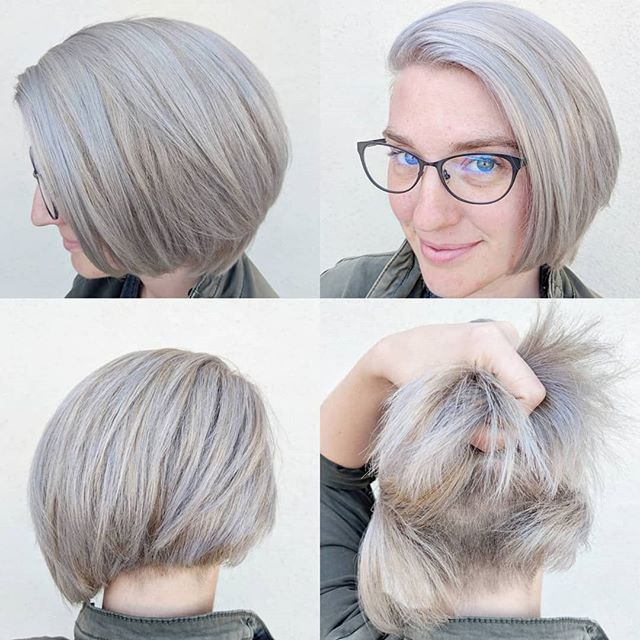 🤘💎🤘💎 . . The many sides of @kairabbott . Toned with @originalmineral . . #silverhair #undercut #undercutbob #sideshave #originalmineral #originalmineralusa #simplyorganicbeauty #holistichairtribe #ammoniafree #crueltyfreehair #rockstarhair