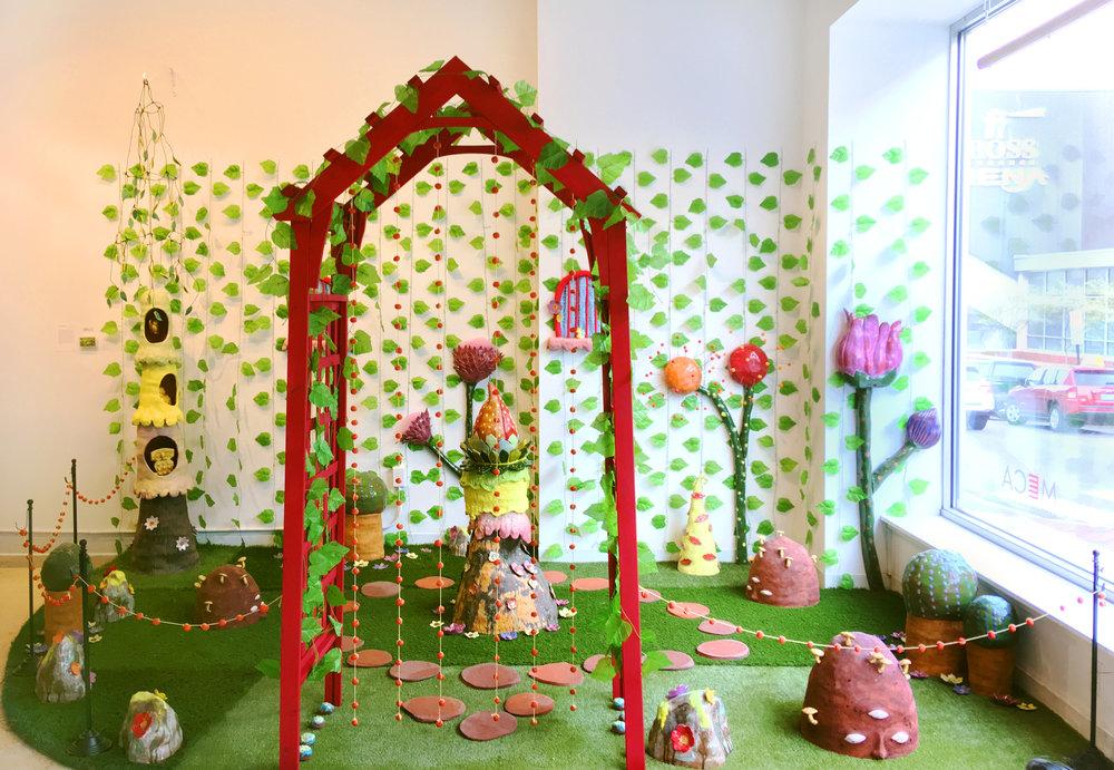 Ceramic Garden, 10ft x 6ft x 8ft, 2018