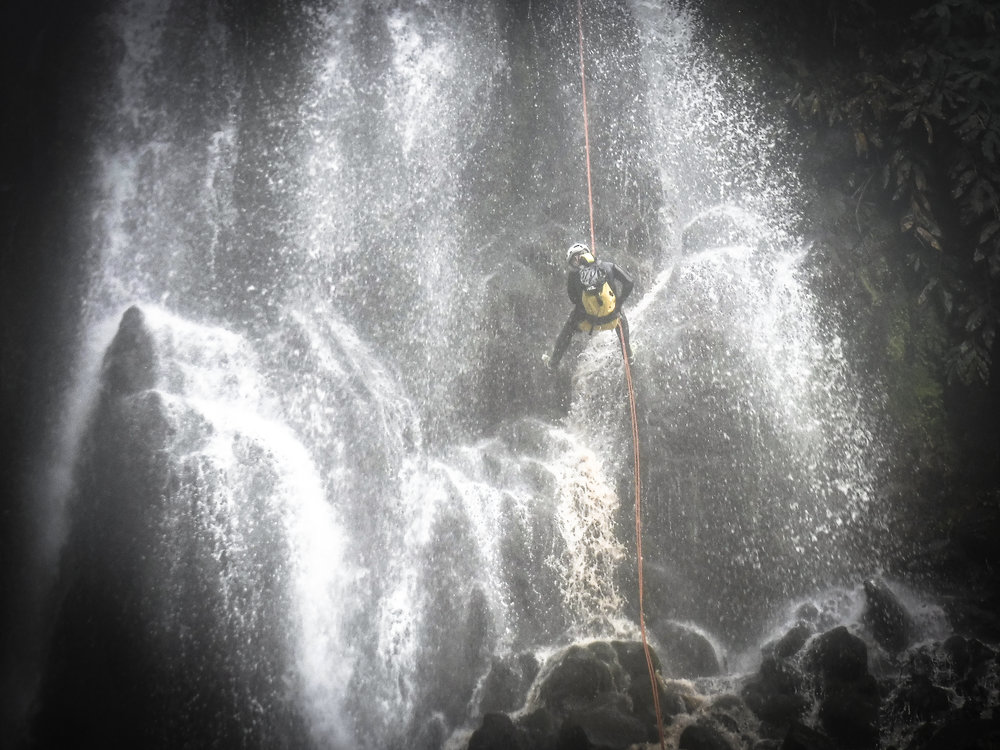 Azores Canyoning, Rapelling the Waterfall - Azores Connections.jpg