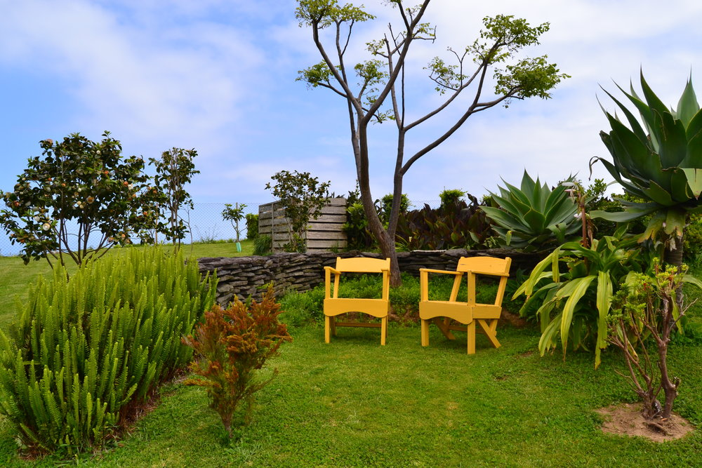 Sao Miguel Holiday Cottage Garden view - Azores Connections.JPG