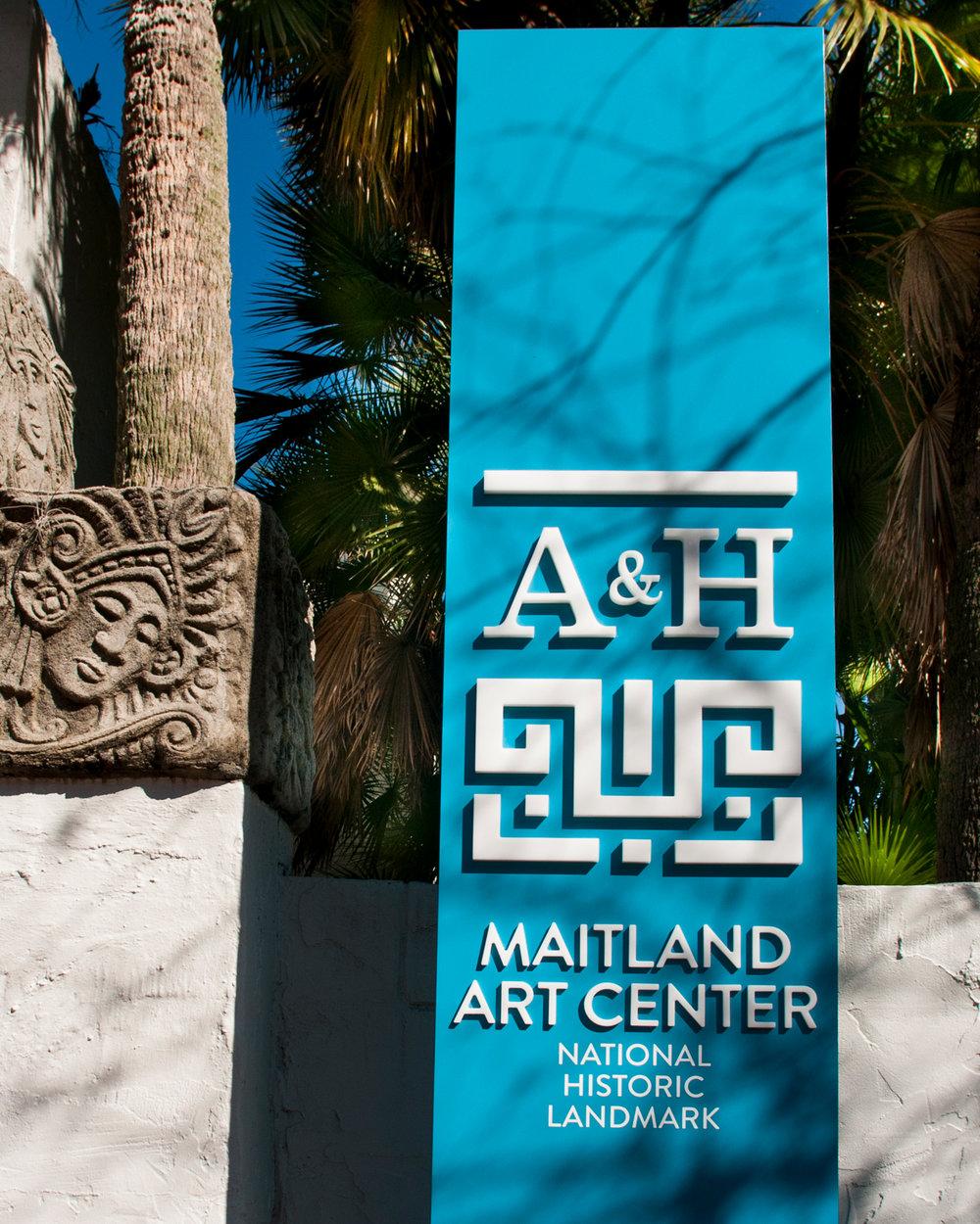 Maitland ART AND HISTORY MUSEUM  wayfinding design  MAITLAND, fLORIDA