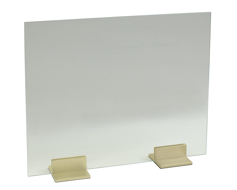 Glass Panel with 6 inch Channel Feet (Satin Brass).jpg