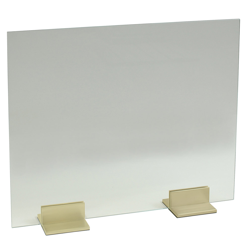 Glass Panel with 6 inch Channel Feet (Satin Brass)5x5.jpg