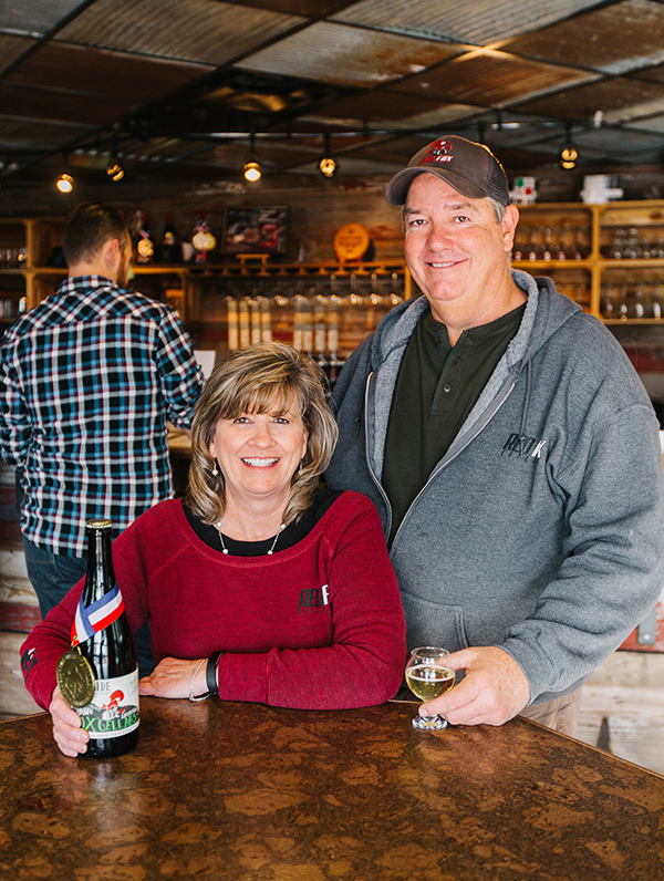 Scott and Sherrie Hamilton, owners of Red Fox Cellars