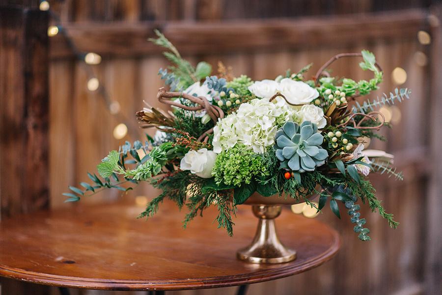 Country Elegance Winter Floral Design