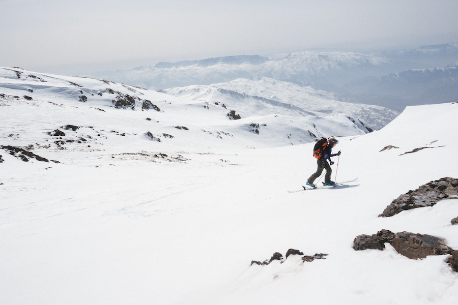 "S+B's Robin Brown, a former Captain in the Army and an Iraq war veteran, skins up Mt. Halgurd in Iraq as part of the ""Adventure Not War"" documentary film. Visit   spokeandblossom.com     to see the film, or use the direct link  ( vimeo.com/242347548 ) . The very same ski mountaineering gear can be used to skin up our hometown mountains at Powderhorn Ski Resort. The benefits include a cardio workout, solitude, and access sans lifts.      Photograph by  Max Lowe"