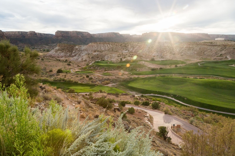 Redlands Mesa Golf Course with views of Colorado National Monument to the west.